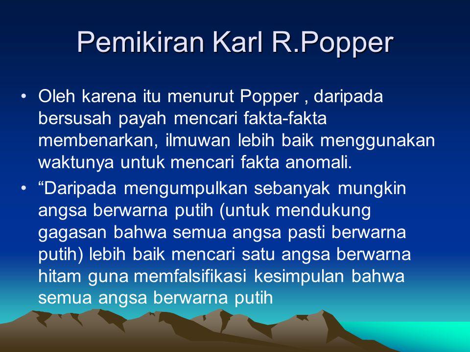 Pemikiran Karl R.Popper