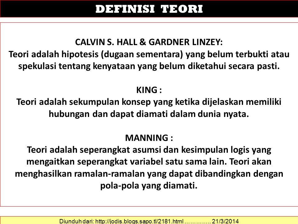 CALVIN S. HALL & GARDNER LINZEY: