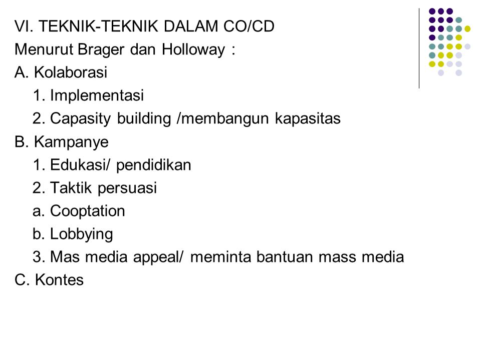 VI. TEKNIK-TEKNIK DALAM CO/CD