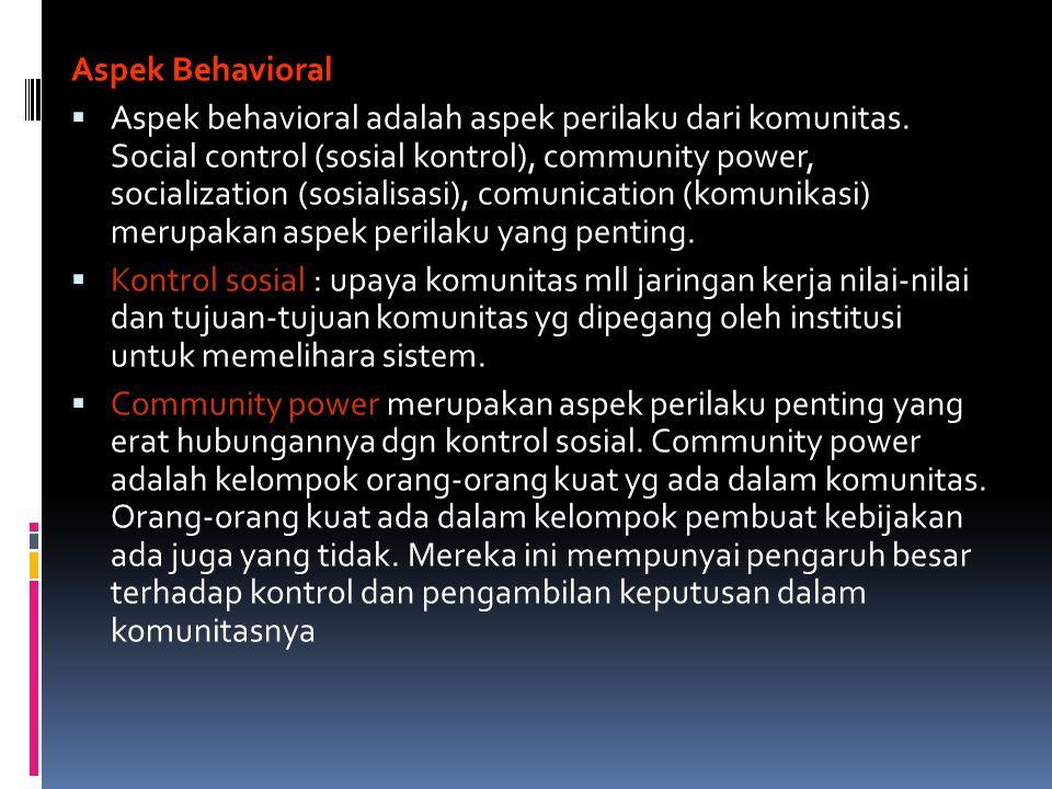 Aspek Behavioral