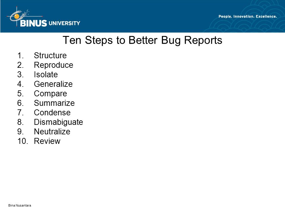 Ten Steps to Better Bug Reports