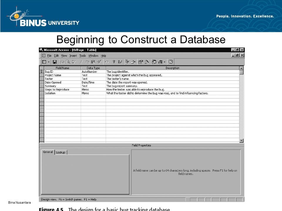 Beginning to Construct a Database