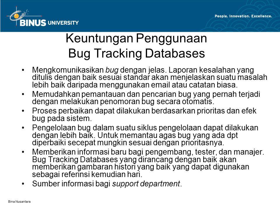 Keuntungan Penggunaan Bug Tracking Databases
