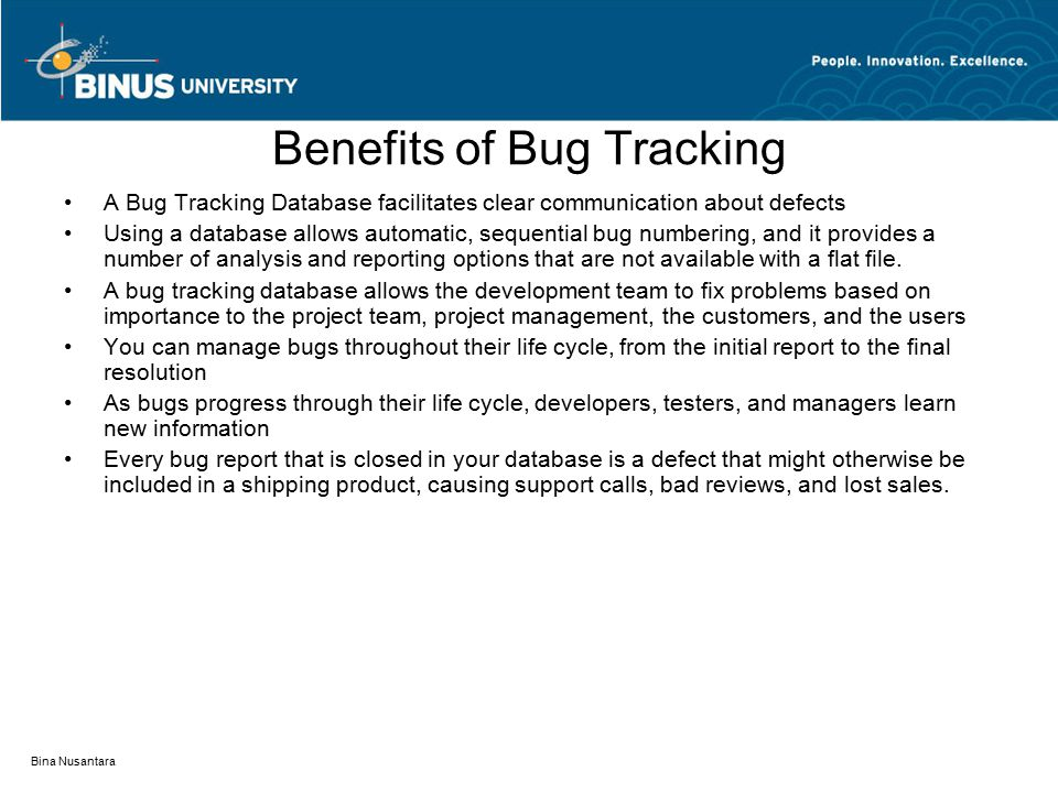 Benefits of Bug Tracking