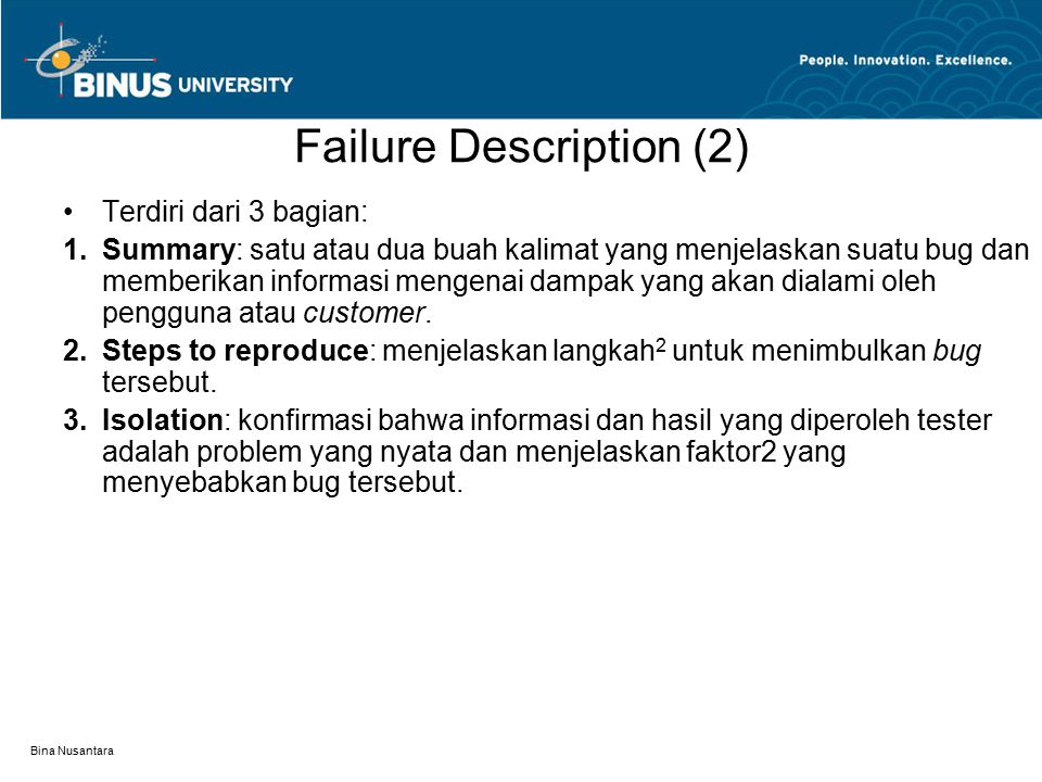 Failure Description (2)