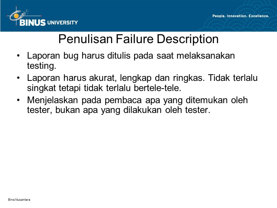 Penulisan Failure Description