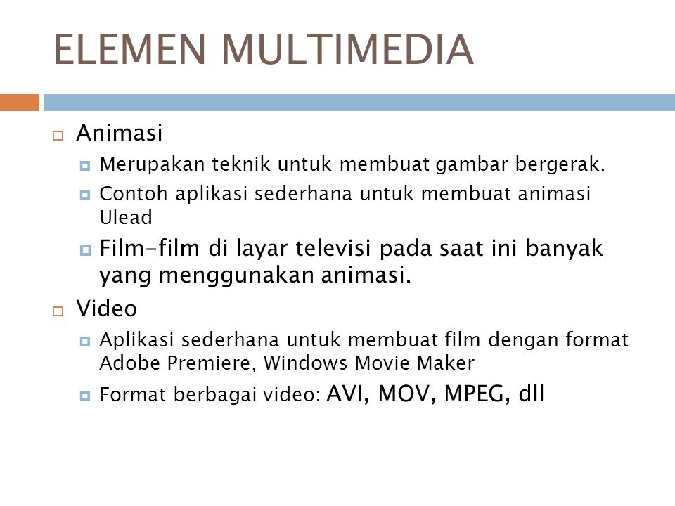 ELEMEN MULTIMEDIA Animasi
