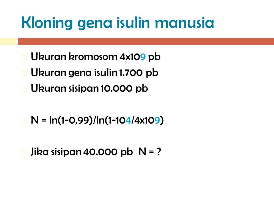 Kloning gena isulin manusia