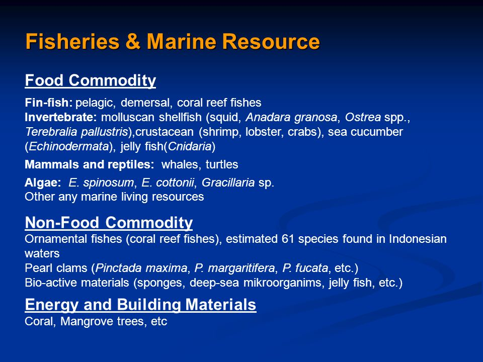 Fisheries & Marine Resource