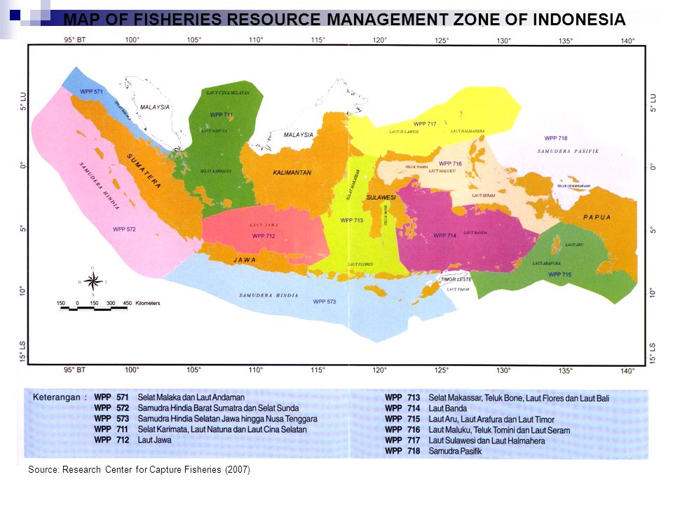 MAP OF FISHERIES RESOURCE MANAGEMENT ZONE OF INDONESIA