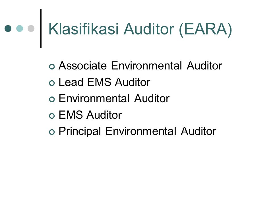 Klasifikasi Auditor (EARA)