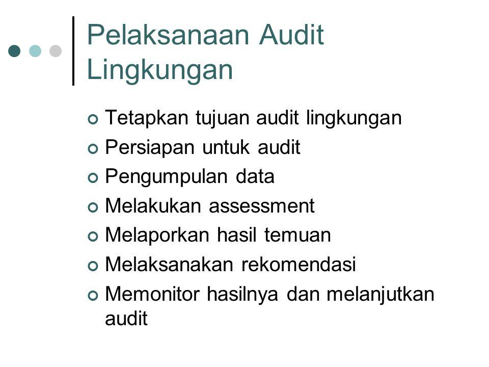 Pelaksanaan Audit Lingkungan