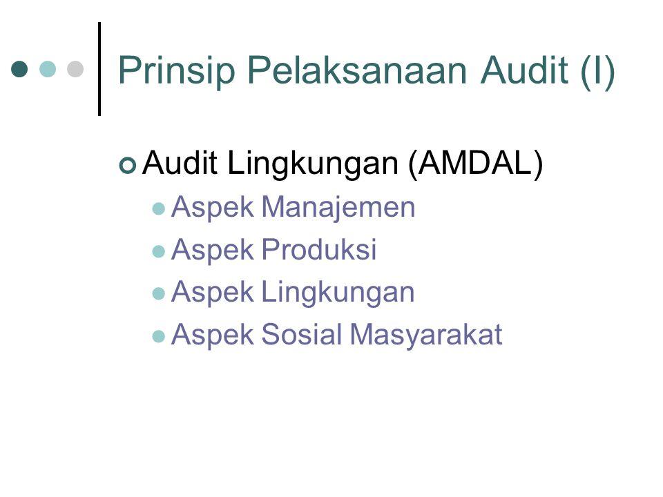 Prinsip Pelaksanaan Audit (I)