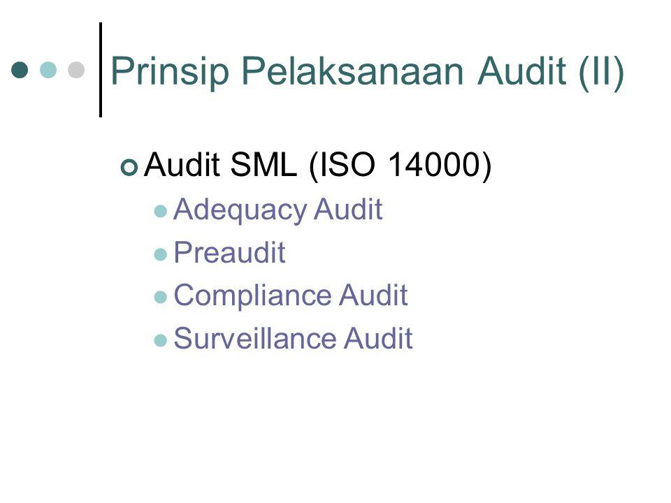 Prinsip Pelaksanaan Audit (II)