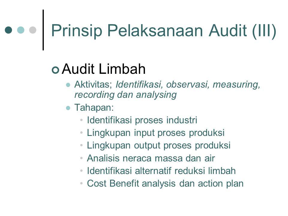 Prinsip Pelaksanaan Audit (III)