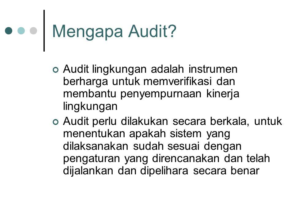 Mengapa Audit Audit lingkungan adalah instrumen berharga untuk memverifikasi dan membantu penyempurnaan kinerja lingkungan.