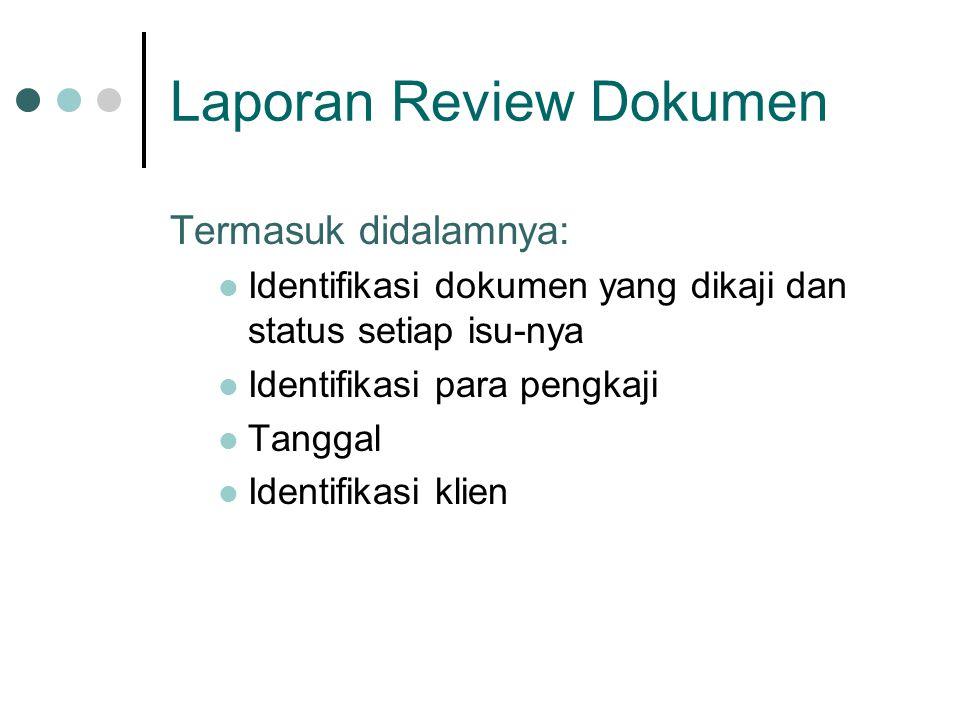Laporan Review Dokumen
