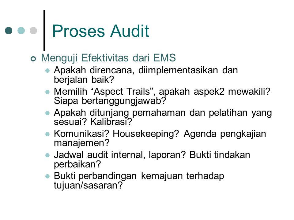 Proses Audit Menguji Efektivitas dari EMS
