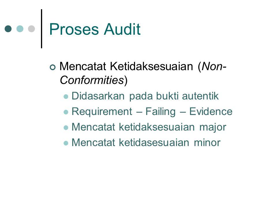 Proses Audit Mencatat Ketidaksesuaian (Non-Conformities)