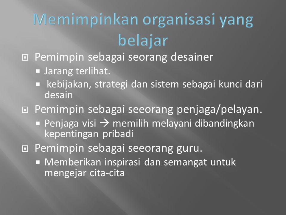 Memimpinkan organisasi yang belajar