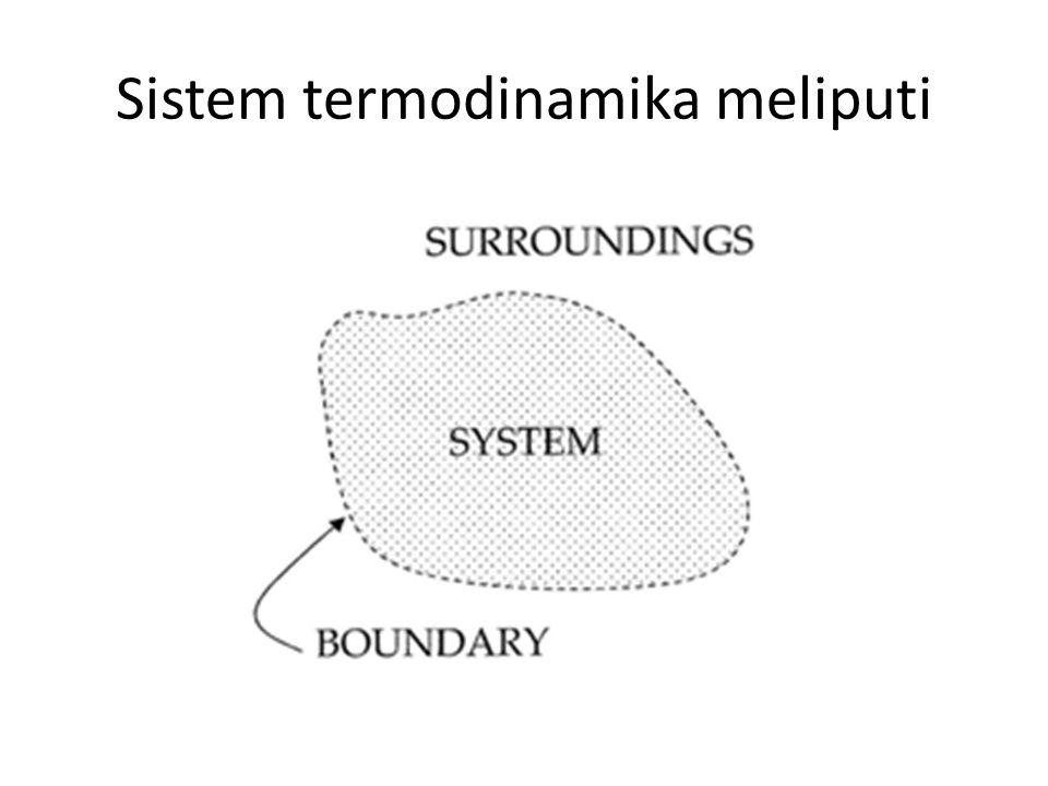 Sistem termodinamika meliputi