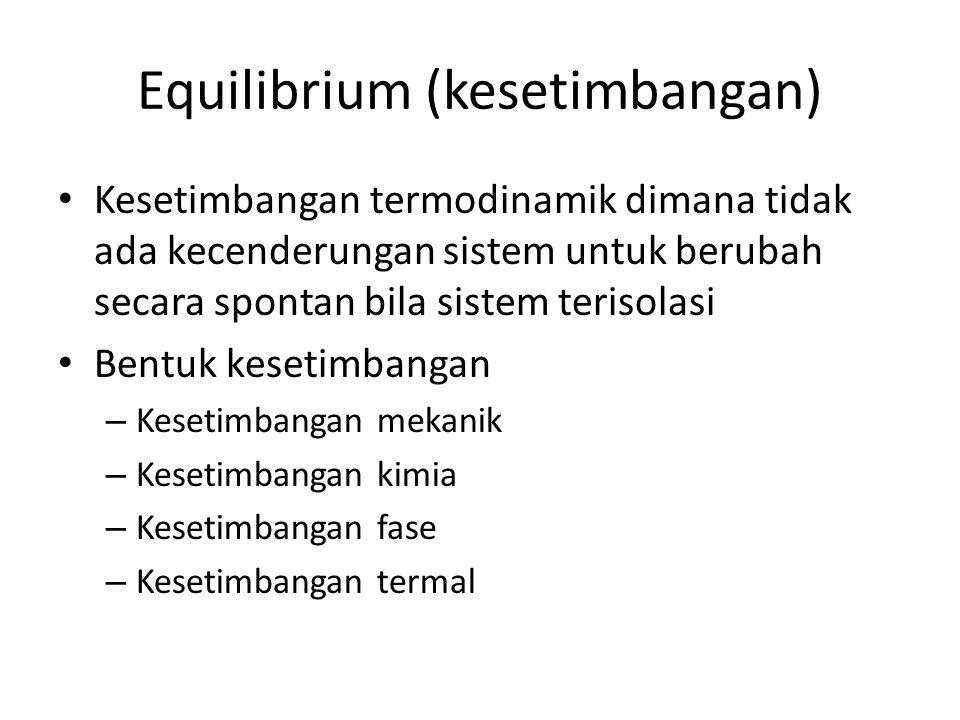 Equilibrium (kesetimbangan)