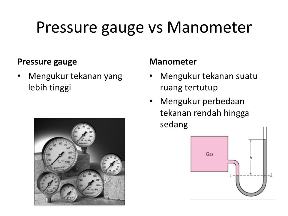 Pressure gauge vs Manometer