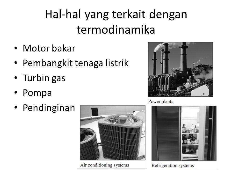 Hal-hal yang terkait dengan termodinamika