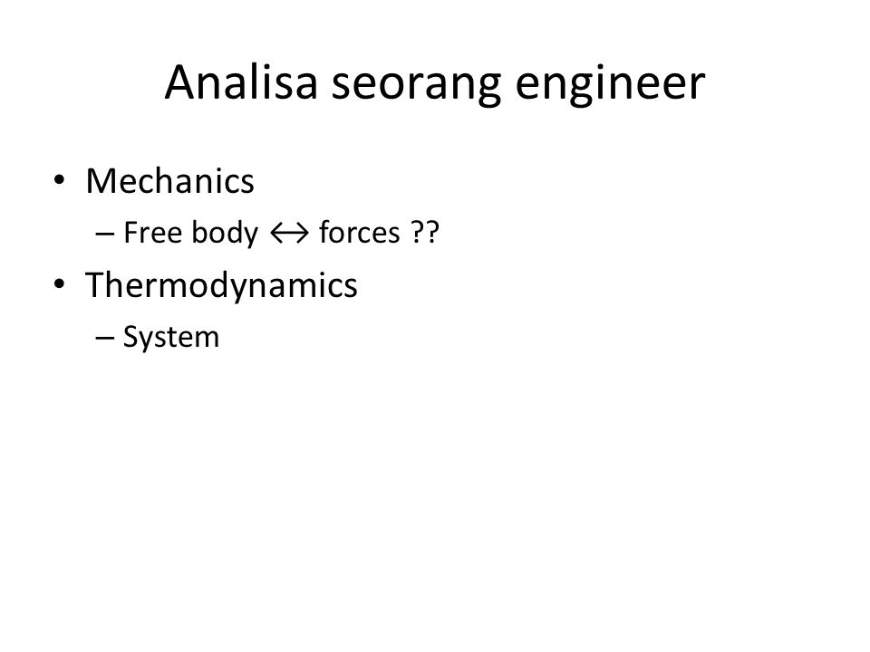Analisa seorang engineer