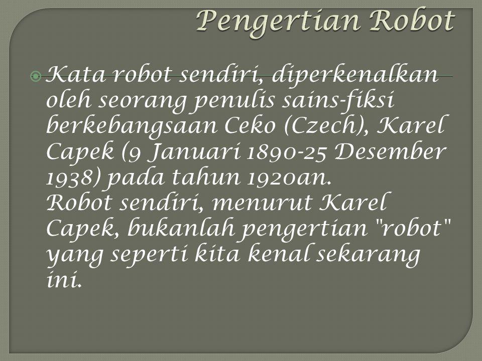 Pengertian Robot