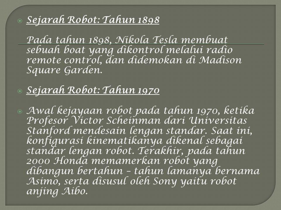Sejarah Robot: Tahun 1898