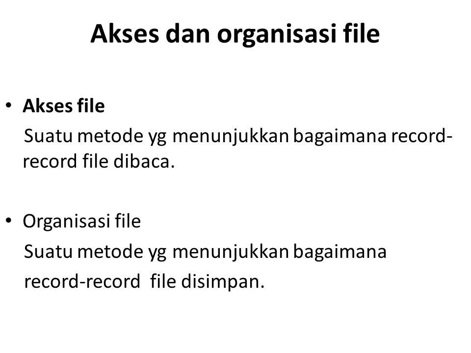Akses dan organisasi file