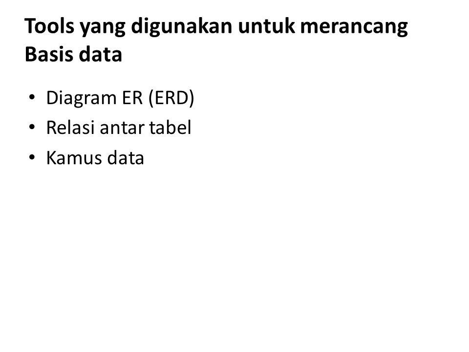 Tools yang digunakan untuk merancang Basis data