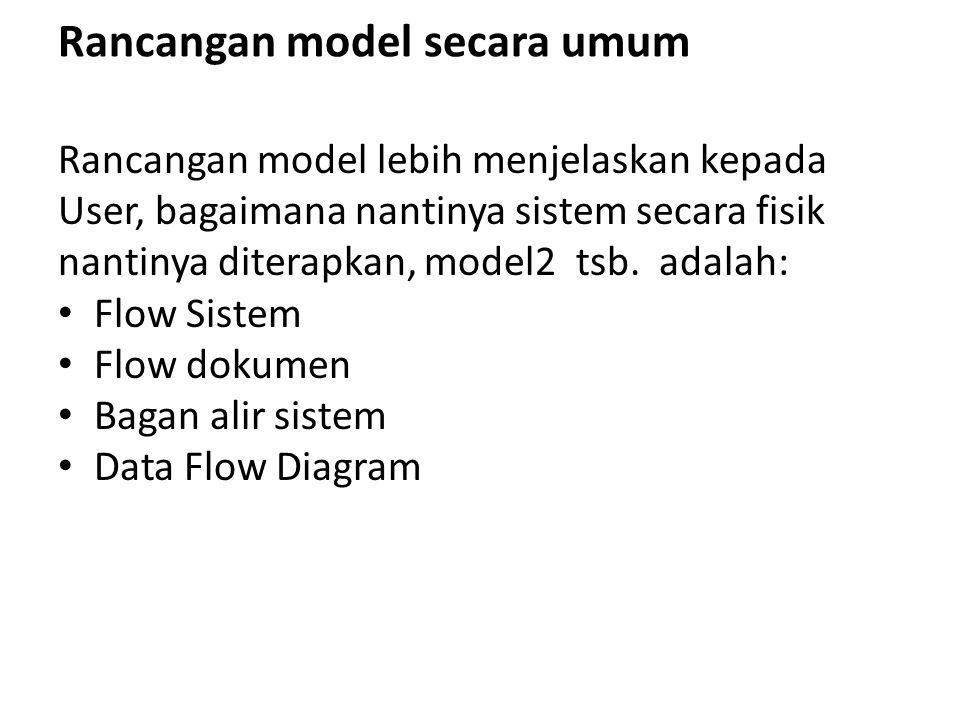 Rancangan model secara umum