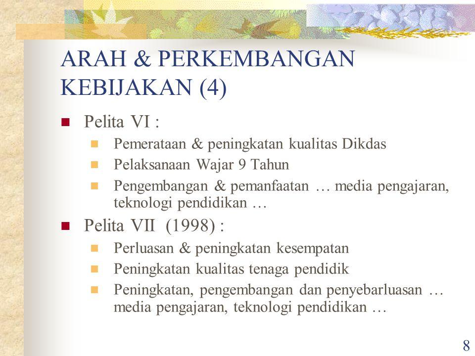 ARAH & PERKEMBANGAN KEBIJAKAN (4)