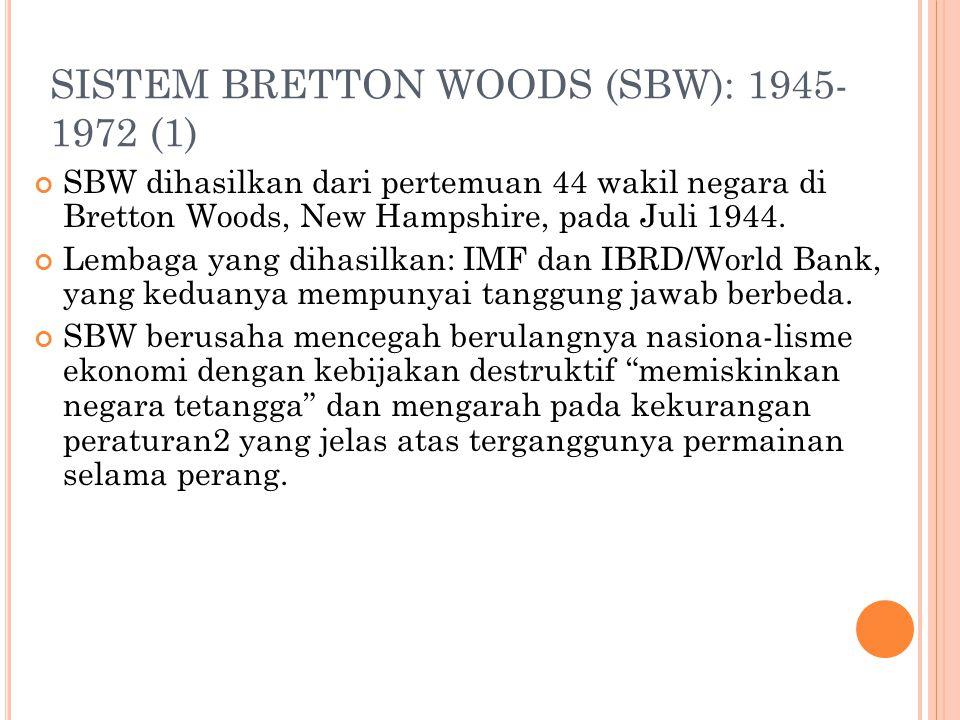 SISTEM BRETTON WOODS (SBW): 1945-1972 (1)