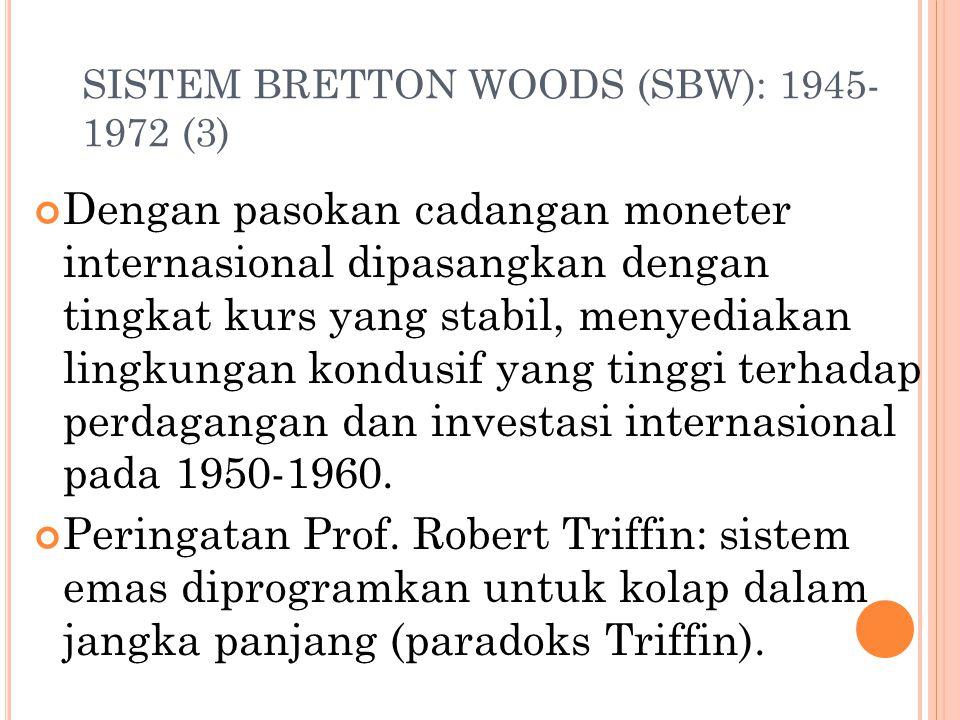 SISTEM BRETTON WOODS (SBW): 1945-1972 (3)