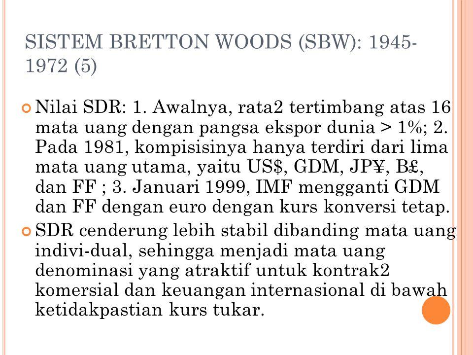 SISTEM BRETTON WOODS (SBW): 1945-1972 (5)