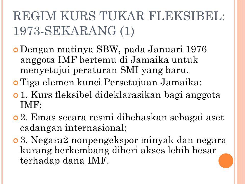 REGIM KURS TUKAR FLEKSIBEL: 1973-SEKARANG (1)
