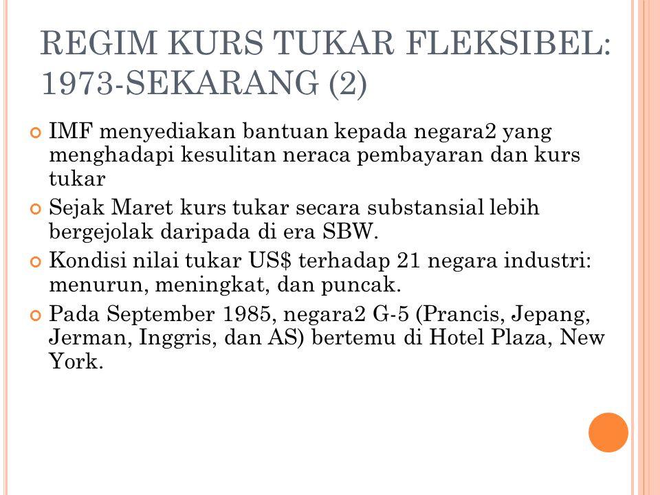REGIM KURS TUKAR FLEKSIBEL: 1973-SEKARANG (2)