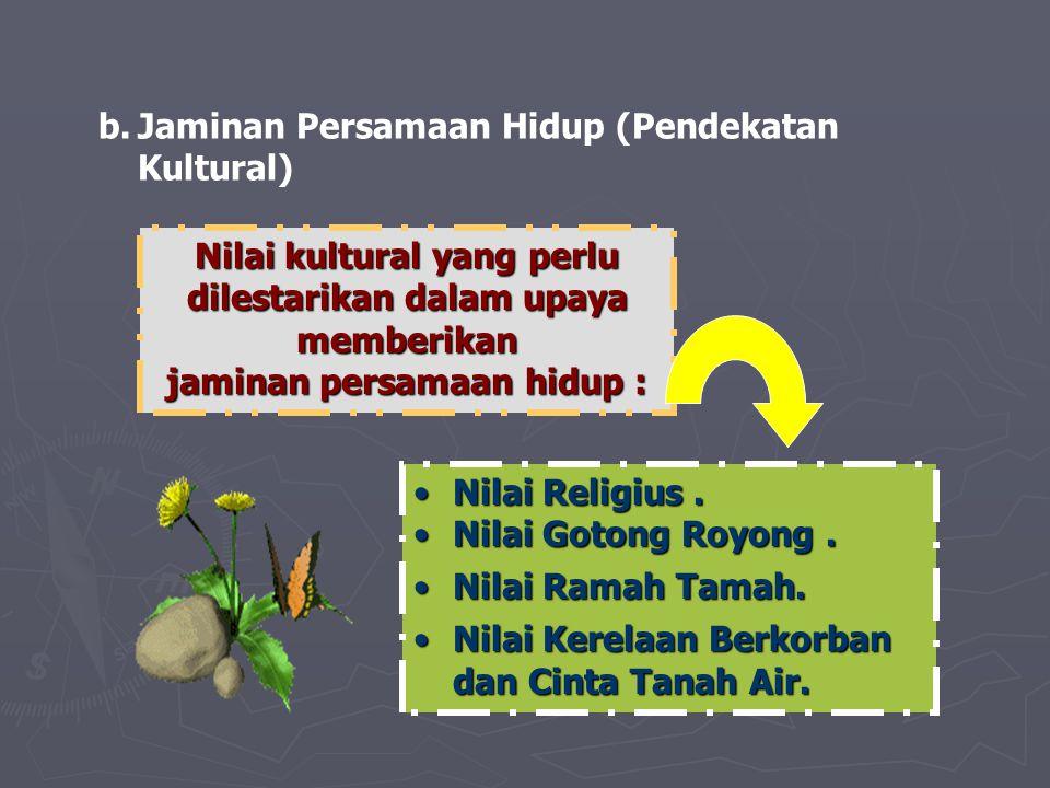 Jaminan Persamaan Hidup (Pendekatan Kultural)