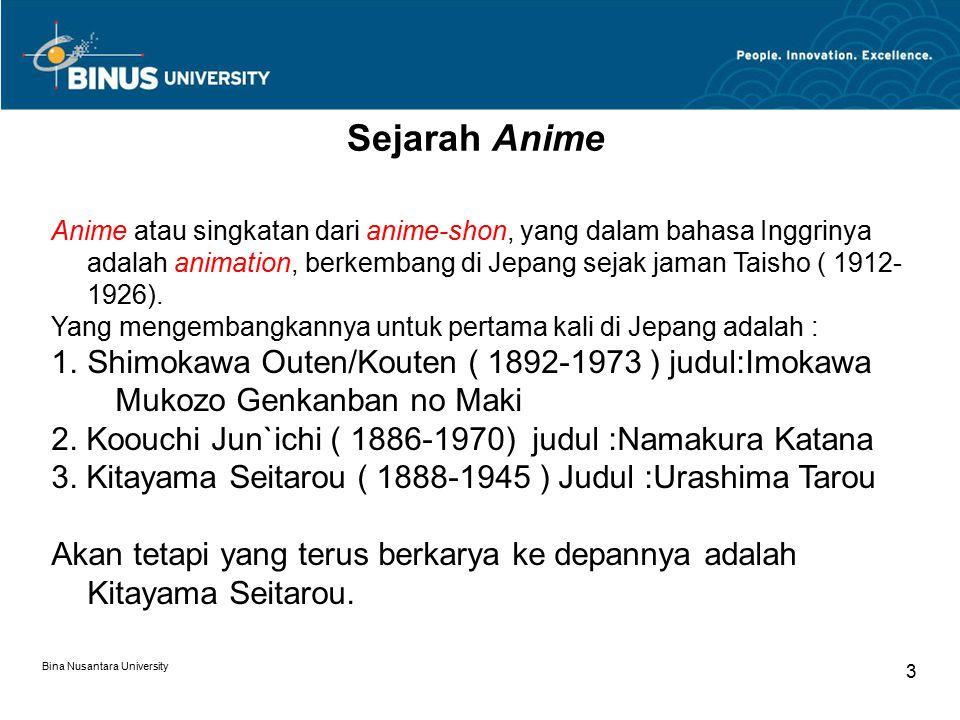 Sejarah Anime Shimokawa Outen/Kouten ( 1892-1973 ) judul:Imokawa