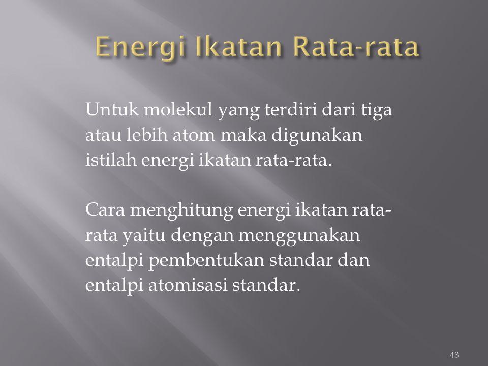 Energi Ikatan Rata-rata