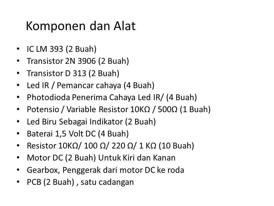 Komponen dan Alat IC LM 393 (2 Buah) Transistor 2N 3906 (2 Buah)