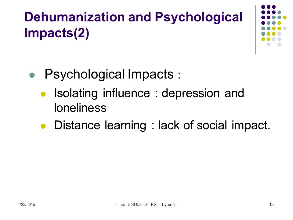 Dehumanization and Psychological Impacts(2)