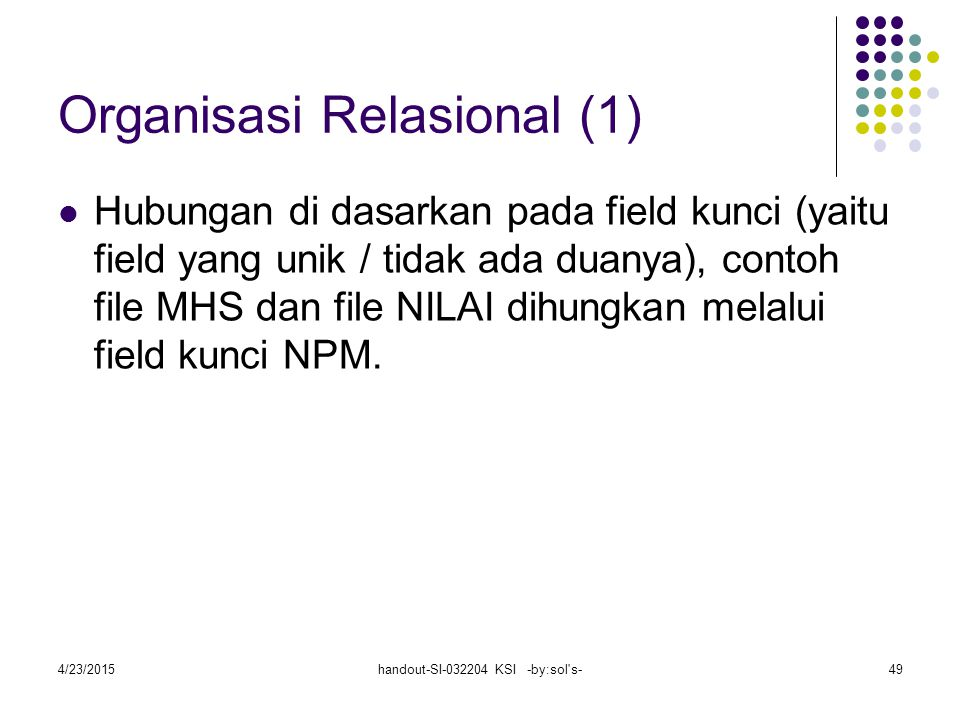 Organisasi Relasional (1)