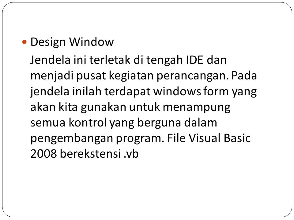 Design Window