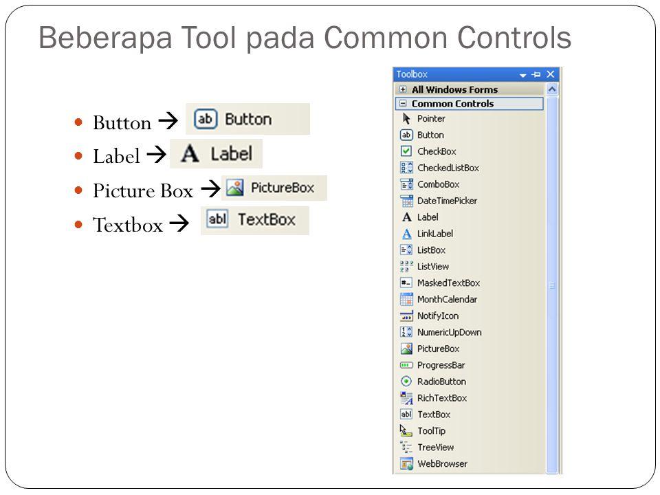Beberapa Tool pada Common Controls