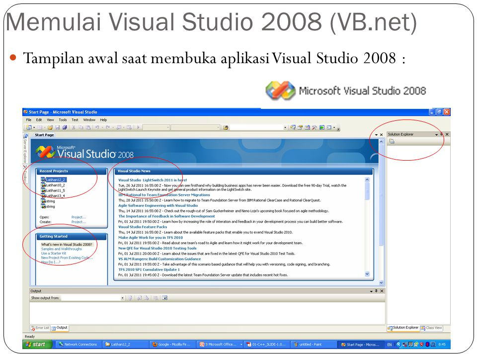 Memulai Visual Studio 2008 (VB.net)