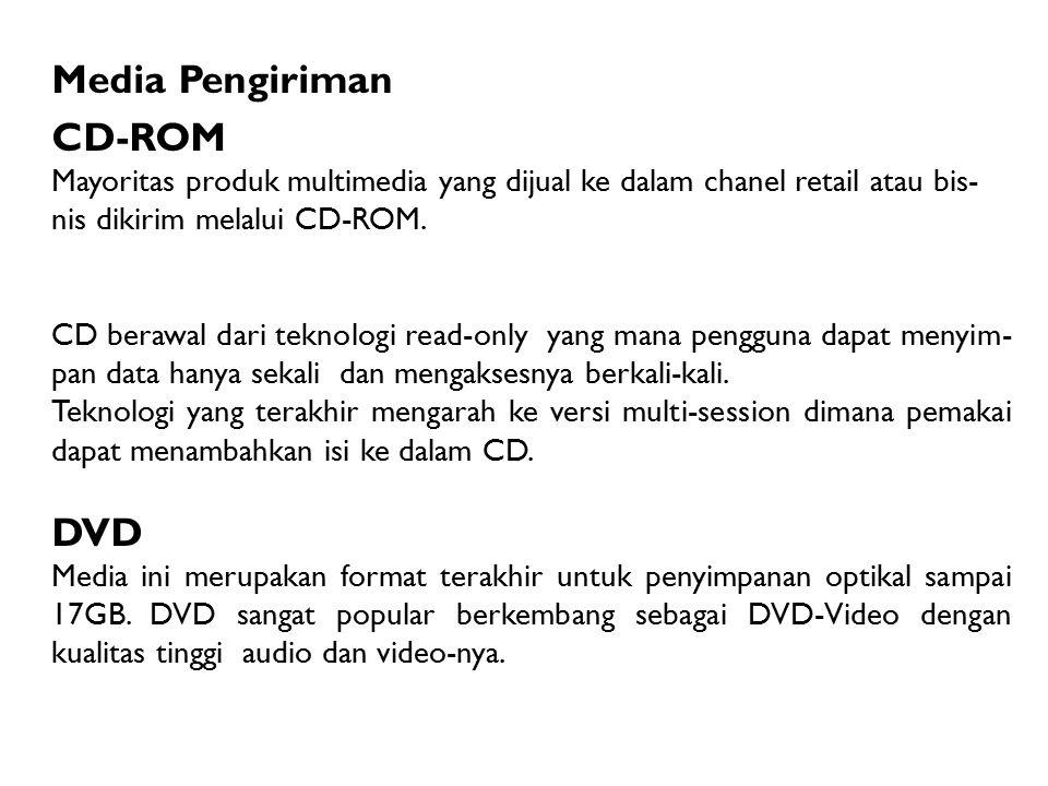 Media Pengiriman CD-ROM DVD